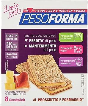 Linie diätetische Lebensmittel Sandwich Schinken und Käse 9 Stk