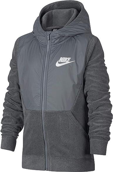 Nike NSW Little Kids Boys Full-Zip Hooded Jacket Sportswear Fleece-Lined