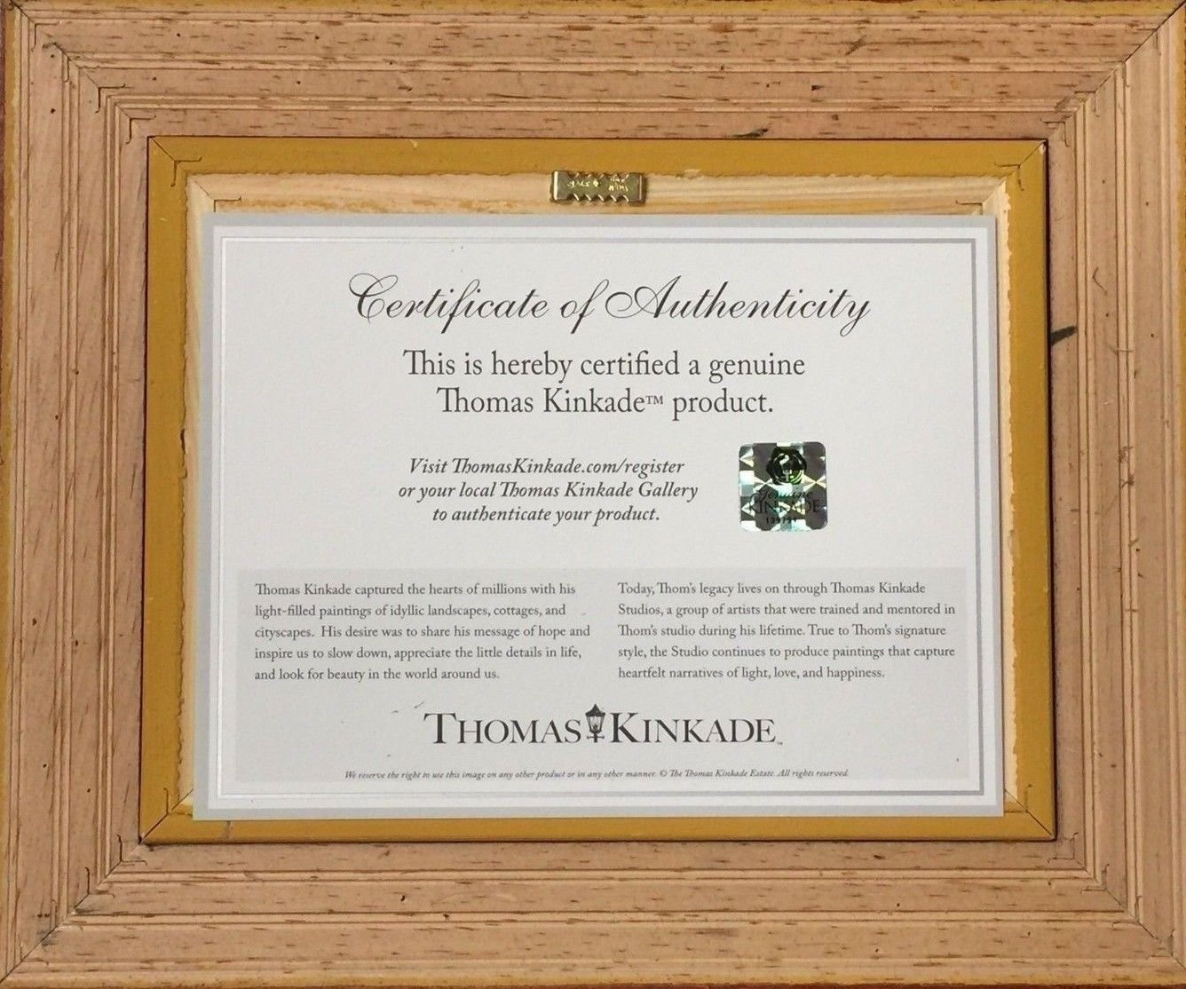 Amazon.com: Thomas Kinkade The Cross Brushwork (Burl Frame): Posters ...