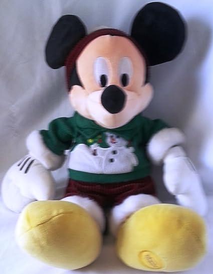 e3c29289a01 Amazon.com  Mickey Mouse Christmas Winter Plush Toy Disney Store Exclusive   Toys   Games