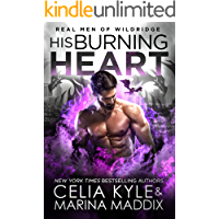 His Burning Heart: Paranormal Dragon Shifter Romance (Real Men of Wildridge Book 6) book cover