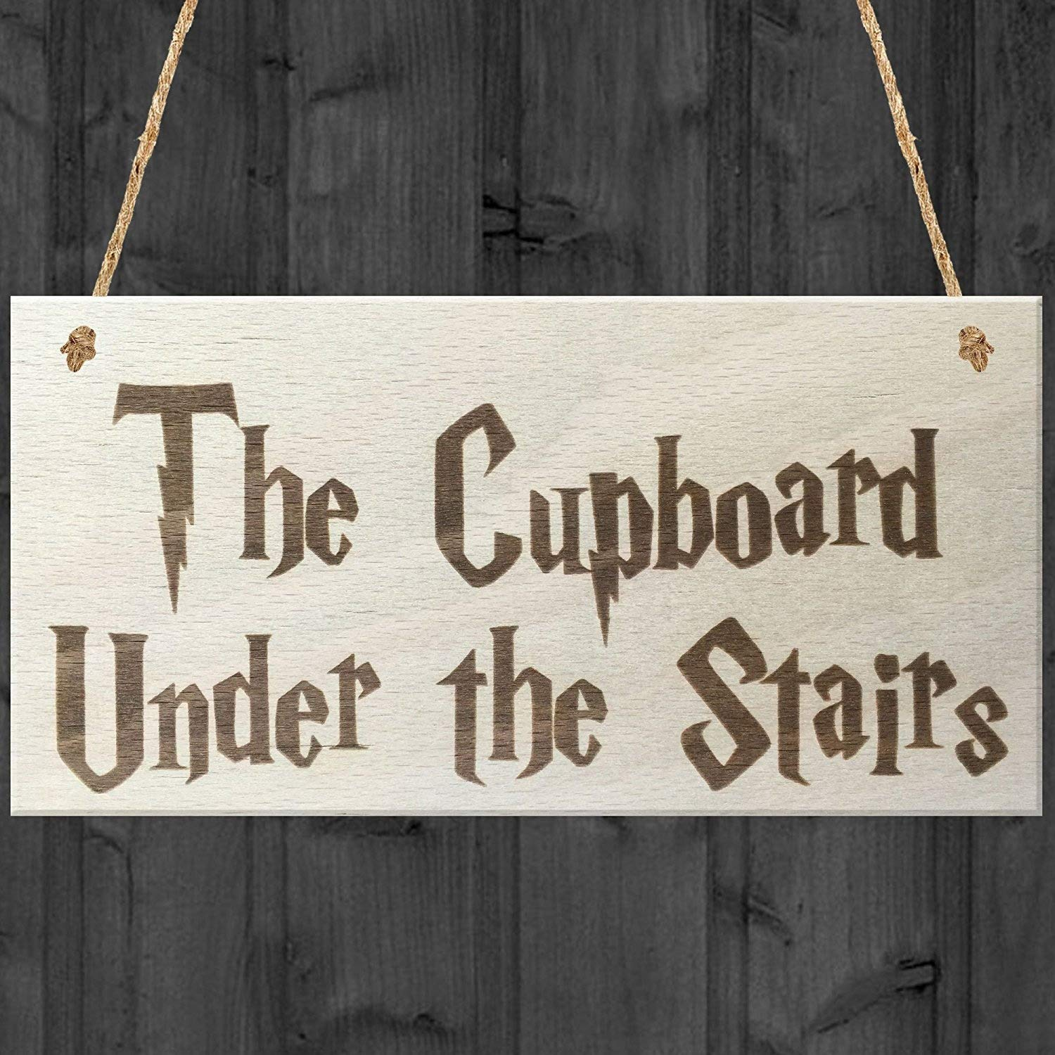 Red Ocean The Cupboard Under The Stairs Novelty Wooden Hanging Plaque Gift Sign