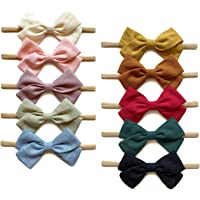 Baby Girl Headbands and Hair Bows, Nylon Hairbands for Newborn Infant Toddler by Cherssy
