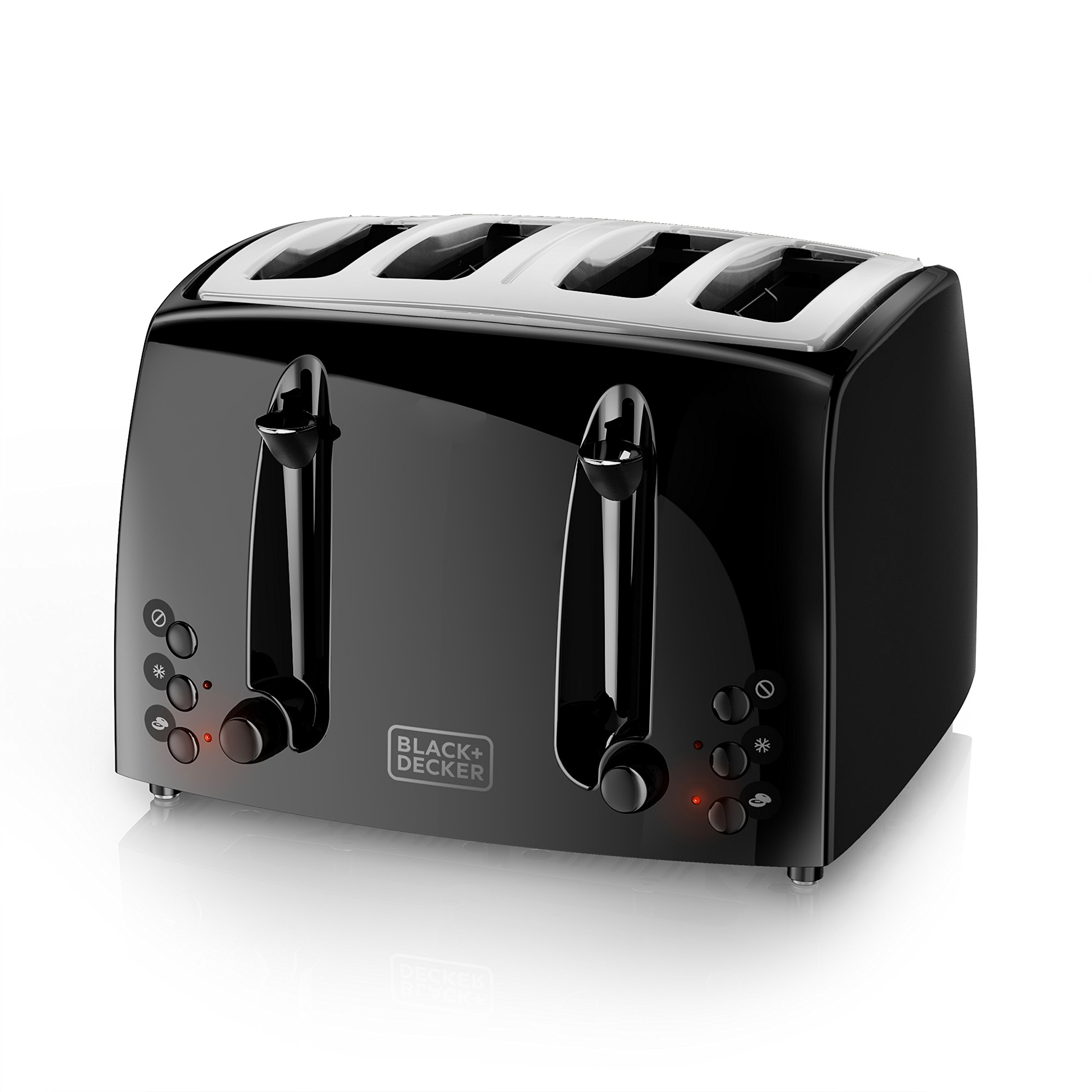 BLACK+DECKER 4-Slice Toaster, Extra-Wide, Black, TR1410BD by BLACK+DECKER