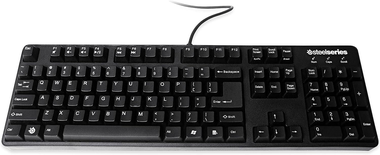 SteelSeries 6Gv2 - Teclado Gaming mecánico (QWERTY, función antifantasmeo), Color Negro - disposición Español
