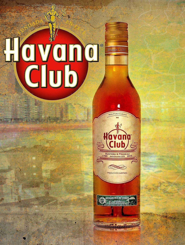 LORENZO Havana Club Vintage Metal Cartel de Chapa Pared ...