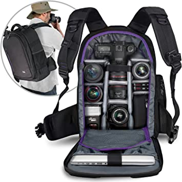 Amazon.com : DSLR Camera Backpack Bag by Altura Photo for Camera ...