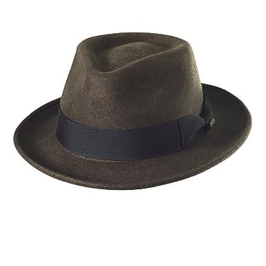 e92cdf856ab90 Scala Classico Men s Crushable Water Repelant Wool Felt Fedora Hat ...