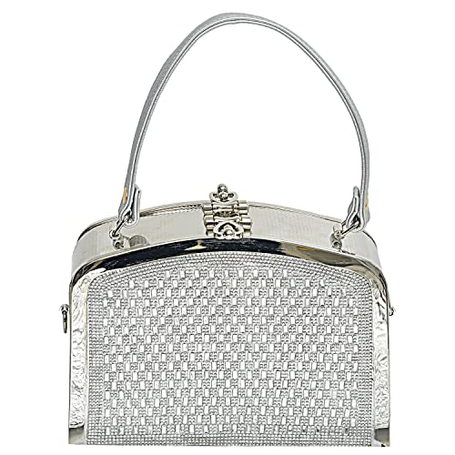 BagaHolics Womens Synthetic Clutch Wallet Free Size Silver
