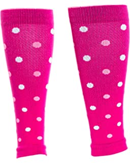427dc8d394 Lily Trotters Women's Designer Athletic Compression Sleeve - Dots Pink ...