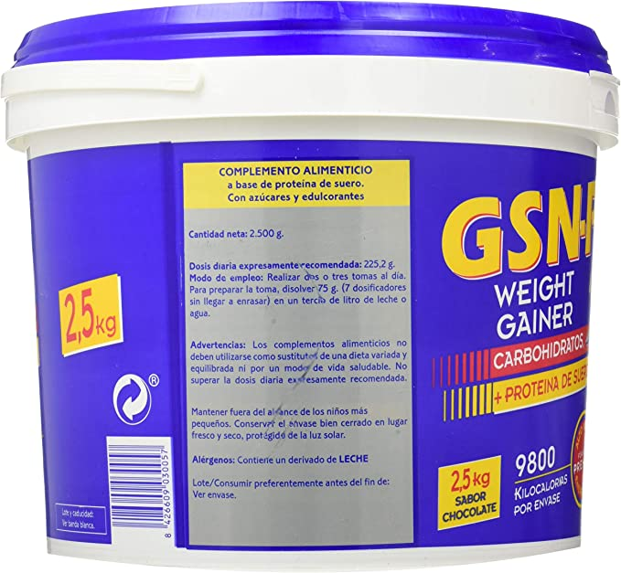 Gsn Gsn Pro 20 Chocolate 2,5 Kg Envase 2,5 Kg 2500 ml: Amazon ...
