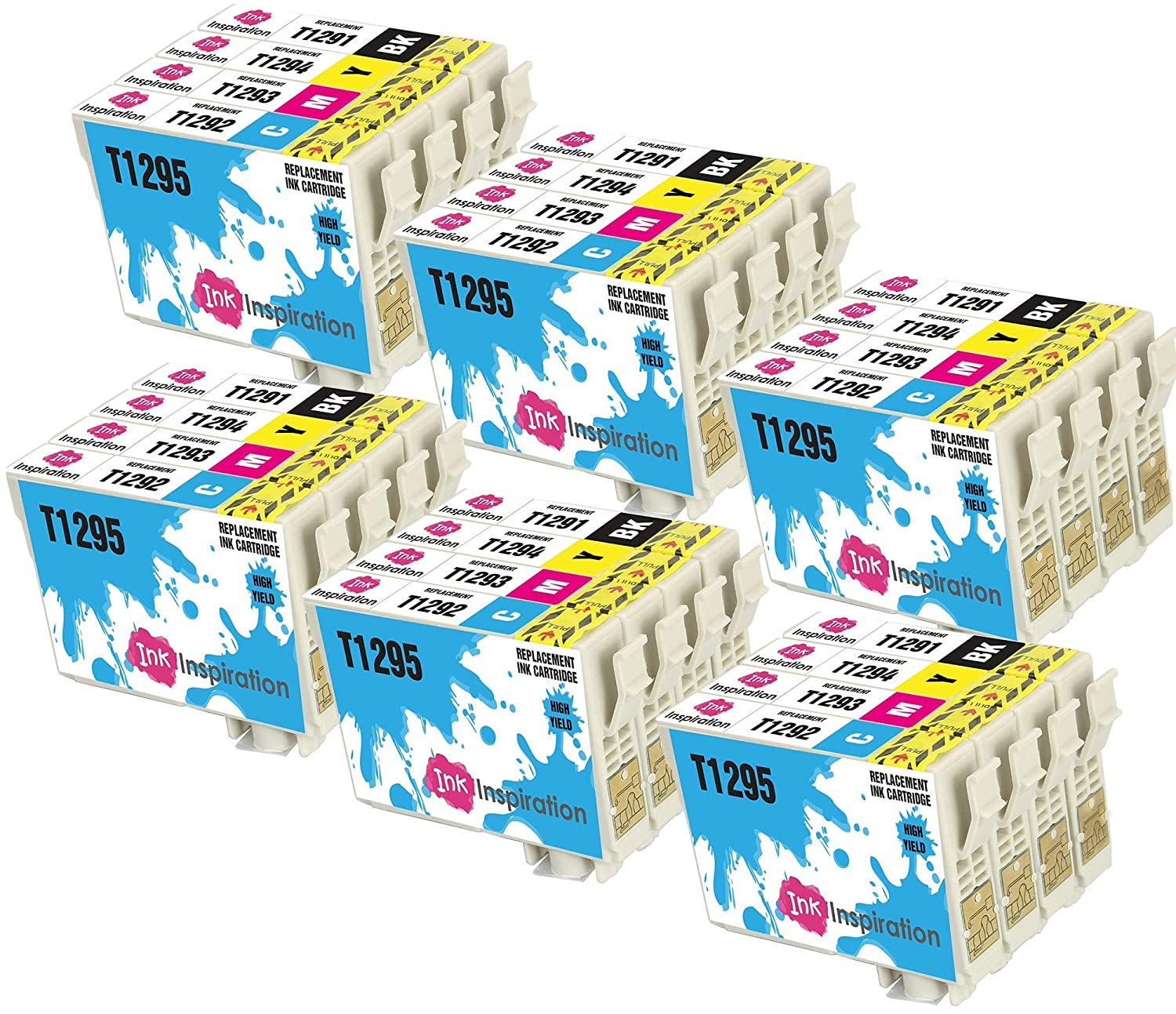 INK INSPIRATION® Reemplazo para Epson T1291-T1294 T1295 Multipack ...