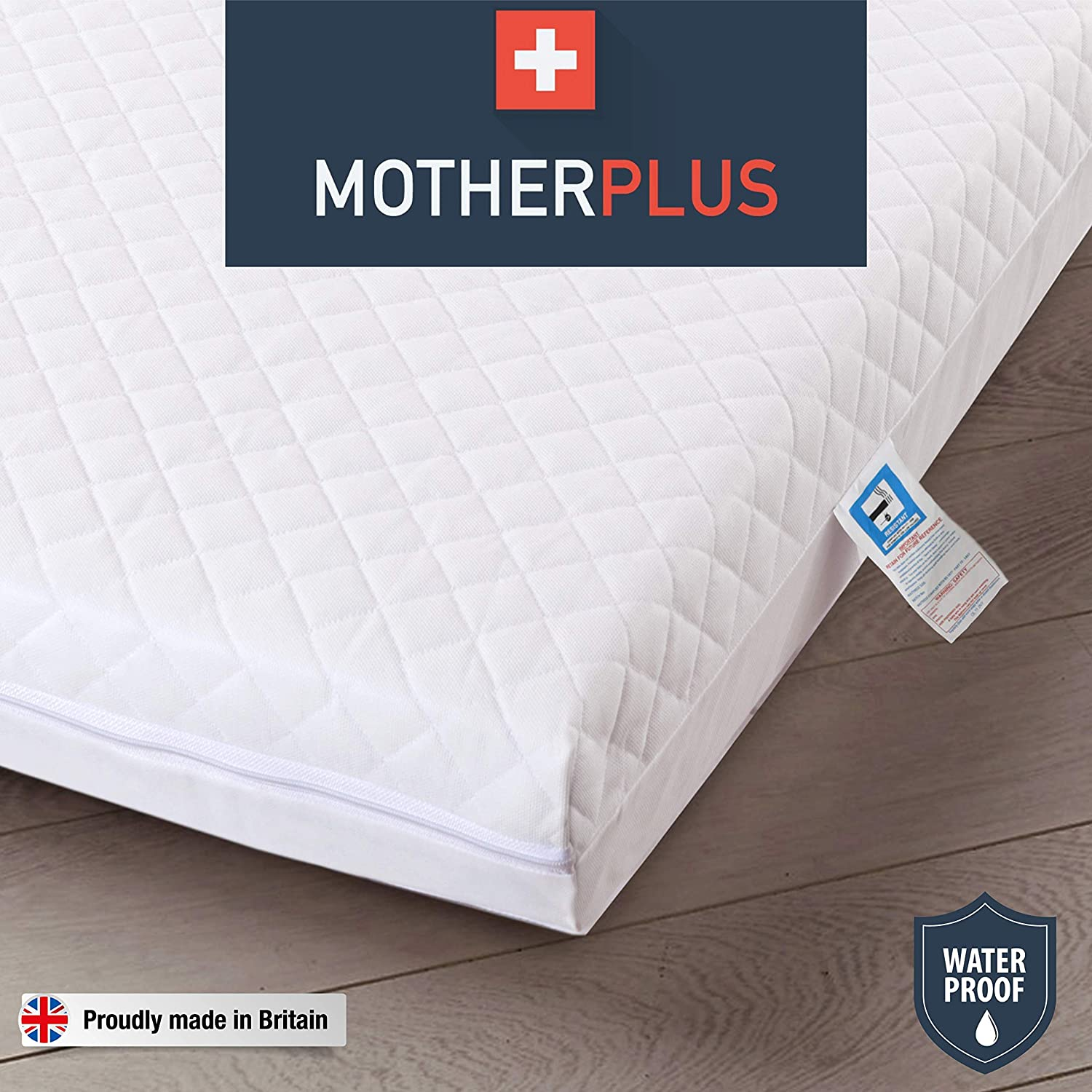 Baby Toddler Foam Spring Mattress Quilted Cot Bed Mattress 120 X 60 X 13 Cm