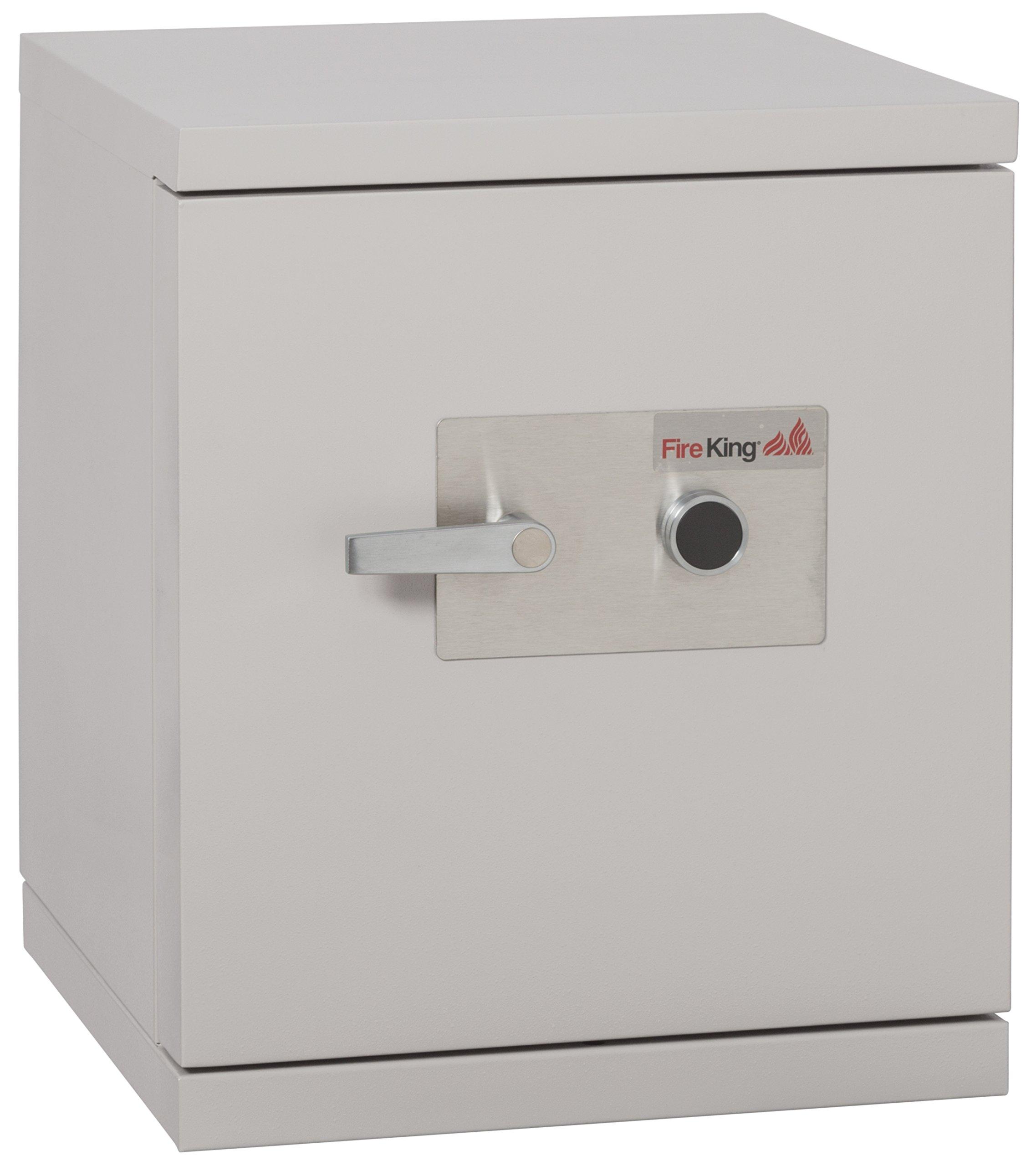 Fireking Fireproof 1-Hour Data Safe, 25.5'' H x 21.5'' W x 22.4'' D/1.3 cu. ft., Platinum Finish