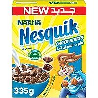 Nestle Nesquik Chocolate Hearts Breakfast Cereal 335g