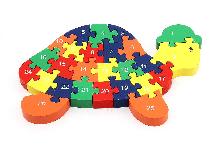 Turtle Wooden Jigsaw Alphabet Letters ABC PUZZLE