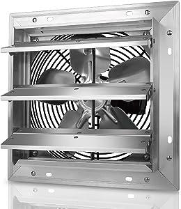 Tornado - 10 Inch Heavy Duty Aluminum High Speed Shutter Exhaust Fan 650 CFM - UL Safety Listed - 5 Years Warranty