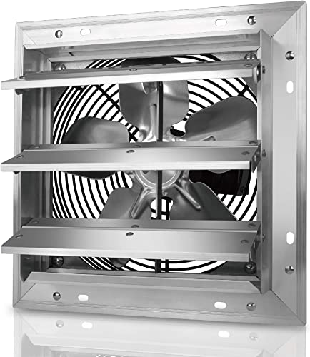Tornado – 10 Inch Heavy Duty Aluminum High Speed Shutter Exhaust Fan 650 CFM – UL Safety Listed – 5 Years Warranty