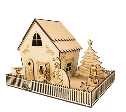 Amazon Com Wws Creative Designs Christmas Wooden Gingerbread House