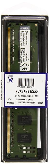 15 opinioni per Kingston KVR16N11S6/2 Memoria RAM da 2 GB, 1600 MHz, DDR3, Non-ECC CL11 DIMM,