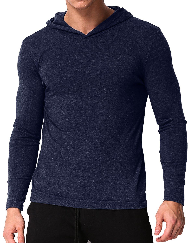 MODCHOK Men's Long Sleeve Hoodie T-Shirts Classic V-Neck Tee Tops Causal Hoodies STYLEDOMECaaomufa1779