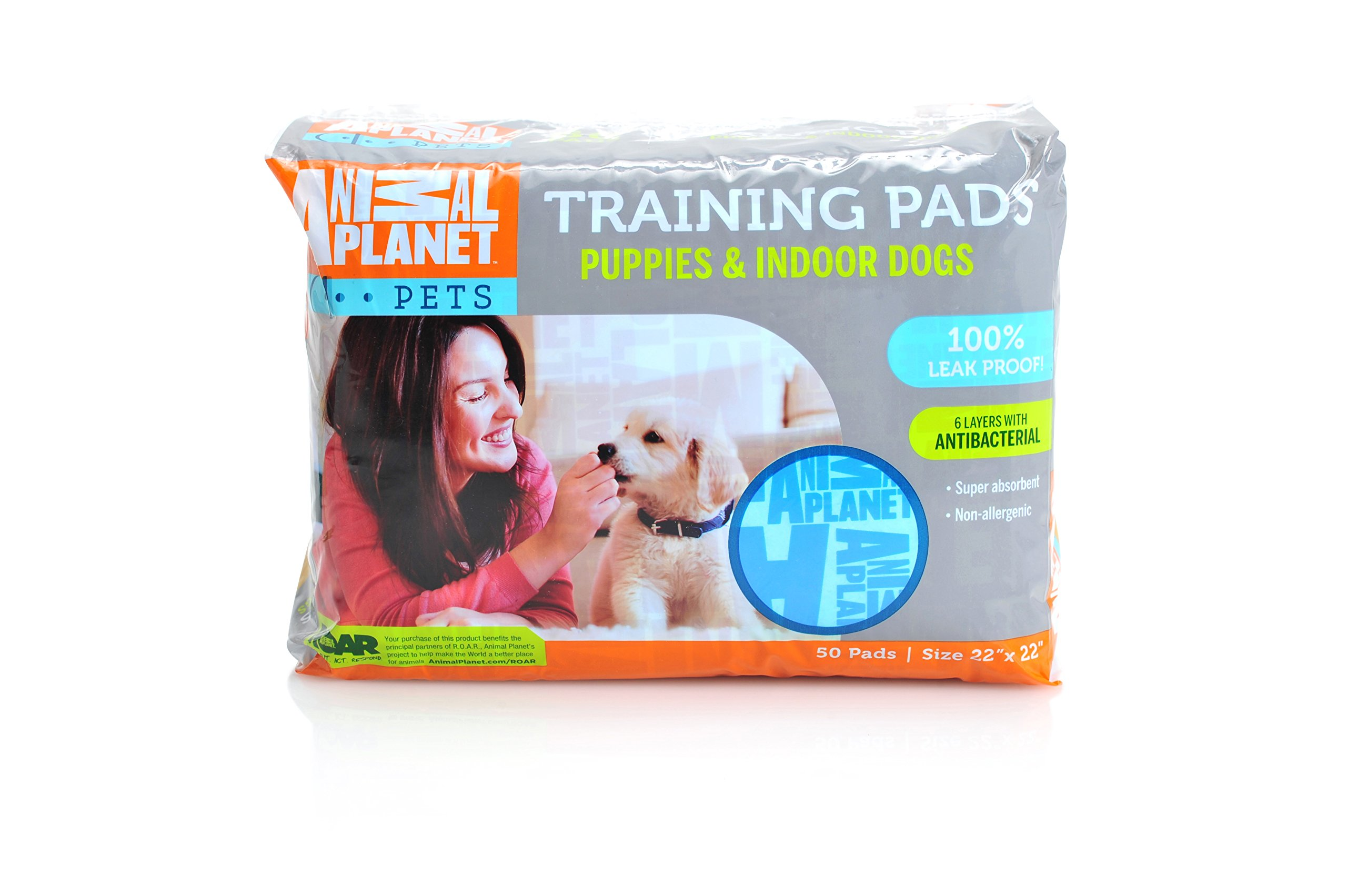 Animal Planet 23405 Indoor Puppy Training Pads, 22'' x 22''