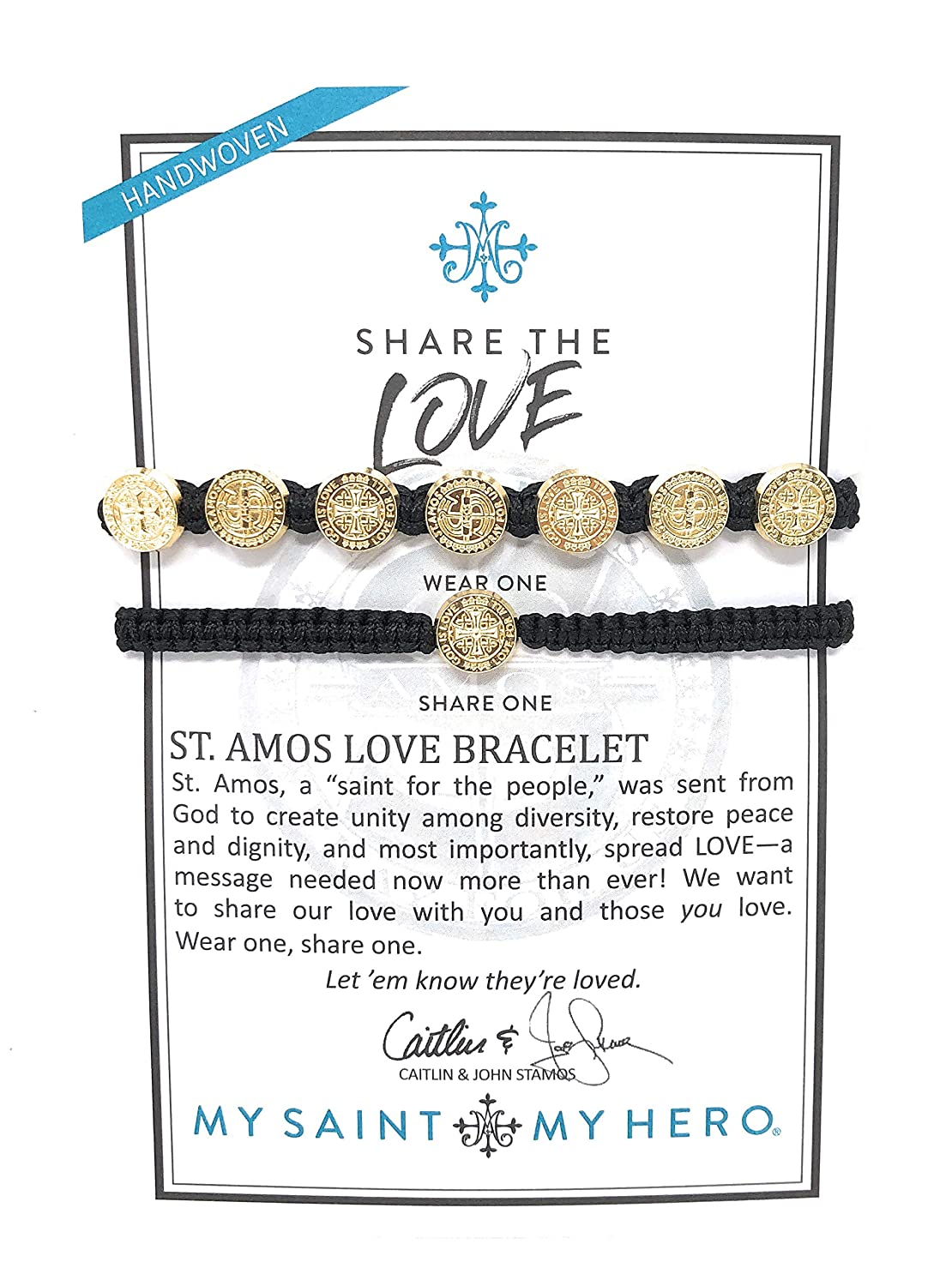 Woven Religious Medals Bracelets St Amos Bracelet Set My Saint My Hero Share The Love