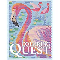 Coloring Quest: Activity Puzzle Color by Number Book for Adults Relaxation and Stress Relief
