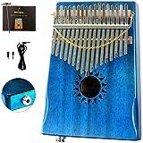 Moozica 17 Keys Kalimba Thumb Piano, Tone Wood Marimba EQ Version with Professional Kalimba Case and Learning…