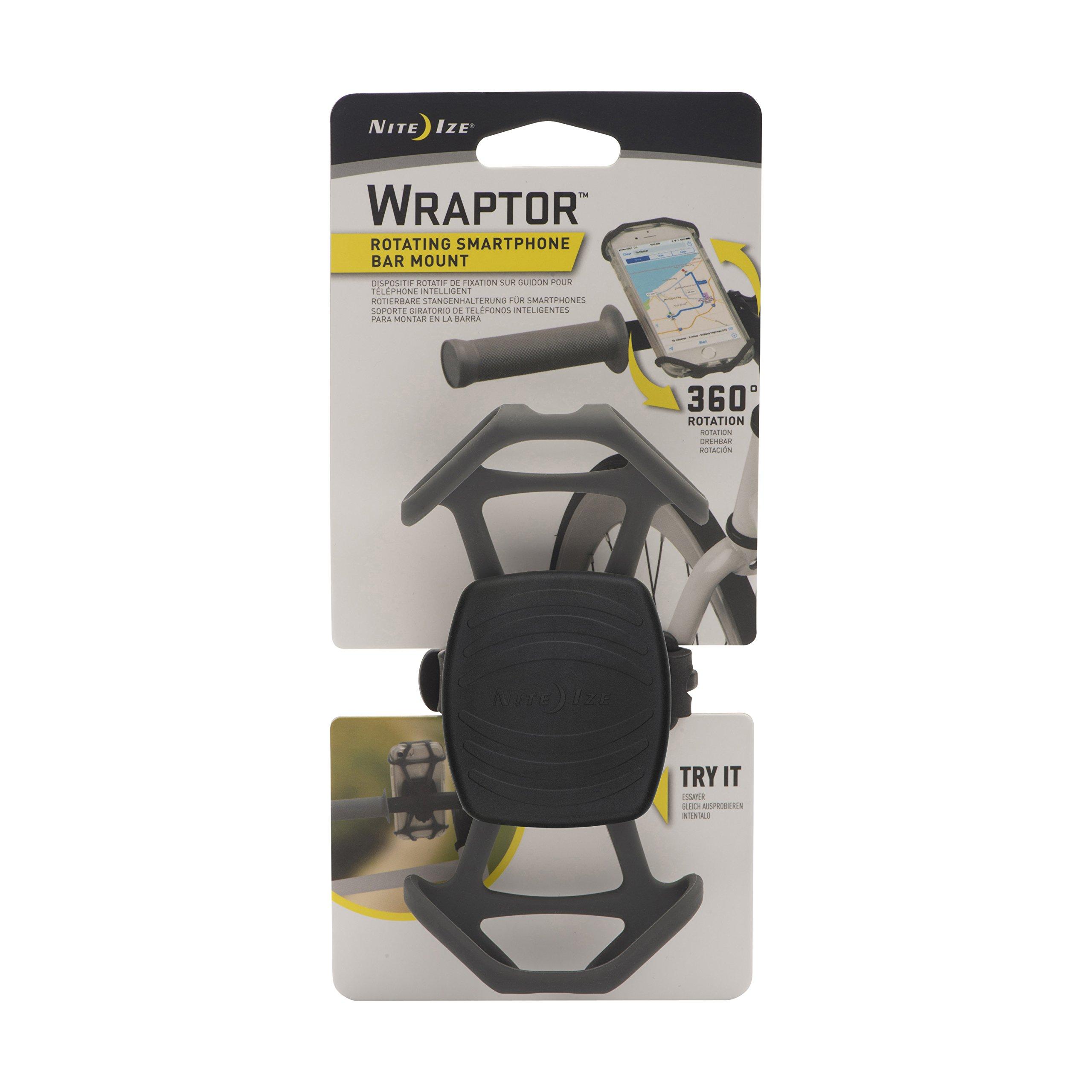 Nite Ize Wraptor, Rotating Smartphone Bar Mount, Charcoal