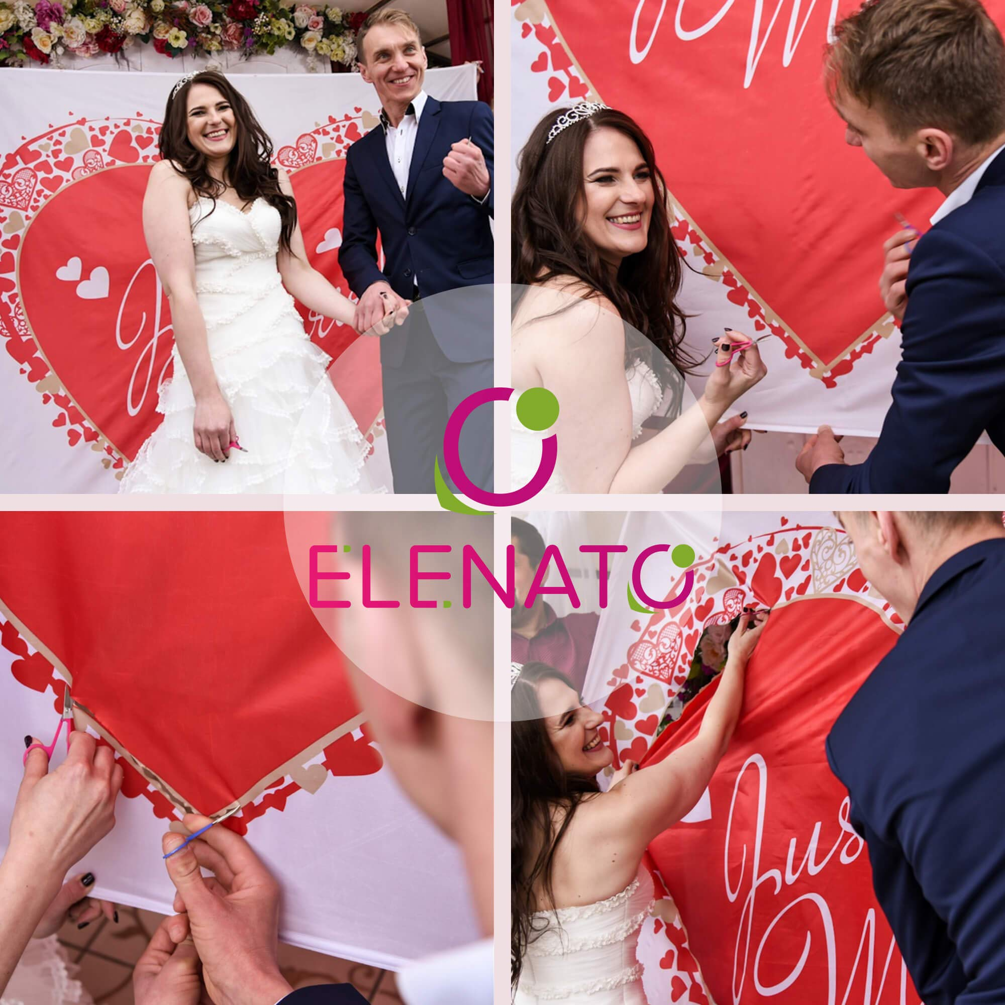 Elenato Bridal Shower Gift is a Perfect Wedding Gift and Eye Catching Backdrop for Photography.