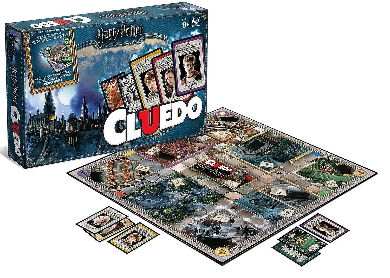 Harry Potter - Cluedo, juego de mesa de misterio (Idioma Inglés) , Modelos/colores Surtidos, 1 Unidad
