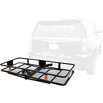 Max Capacity of 500Lbs OxGord Universal Auto Steel Rear Hitch Mount Carrier Basket for Cars//Trucks//SUV