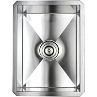 Ariel F1520 15 Inch Zero Radius Design Undermount Stainless Steel Bar/Prep Sink
