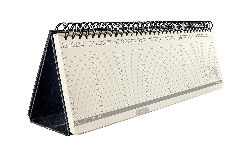 Sigel HO505 Sottomano da scrivania di carta, con calendario 3 anni, Weekly Planner Mini, 50x13 cm, 52 fg.