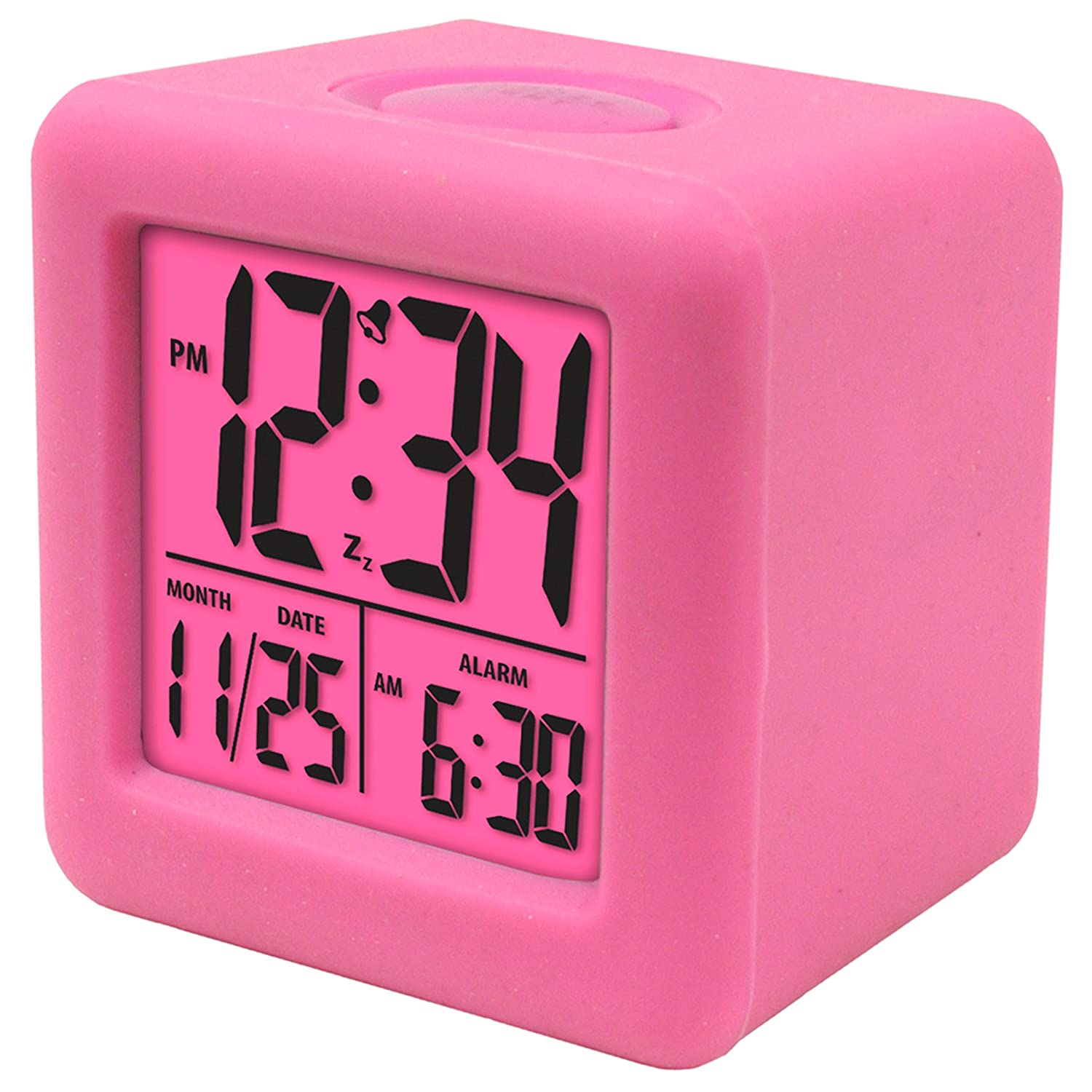 amazoncom equity by la crosse  soft cube lcd alarm clock  - amazoncom equity by la crosse  soft cube lcd alarm clock pink home kitchen