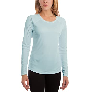 bb202cc9462 Vapor Apparel Women's UPF 50+ UV Sun Protection Performance Long Sleeve T- Shirt X