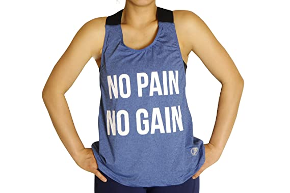 503837149d951 Fitness Gear Planet No Pain No GAIN Women Youth Tank Top at Amazon Women s  Clothing store