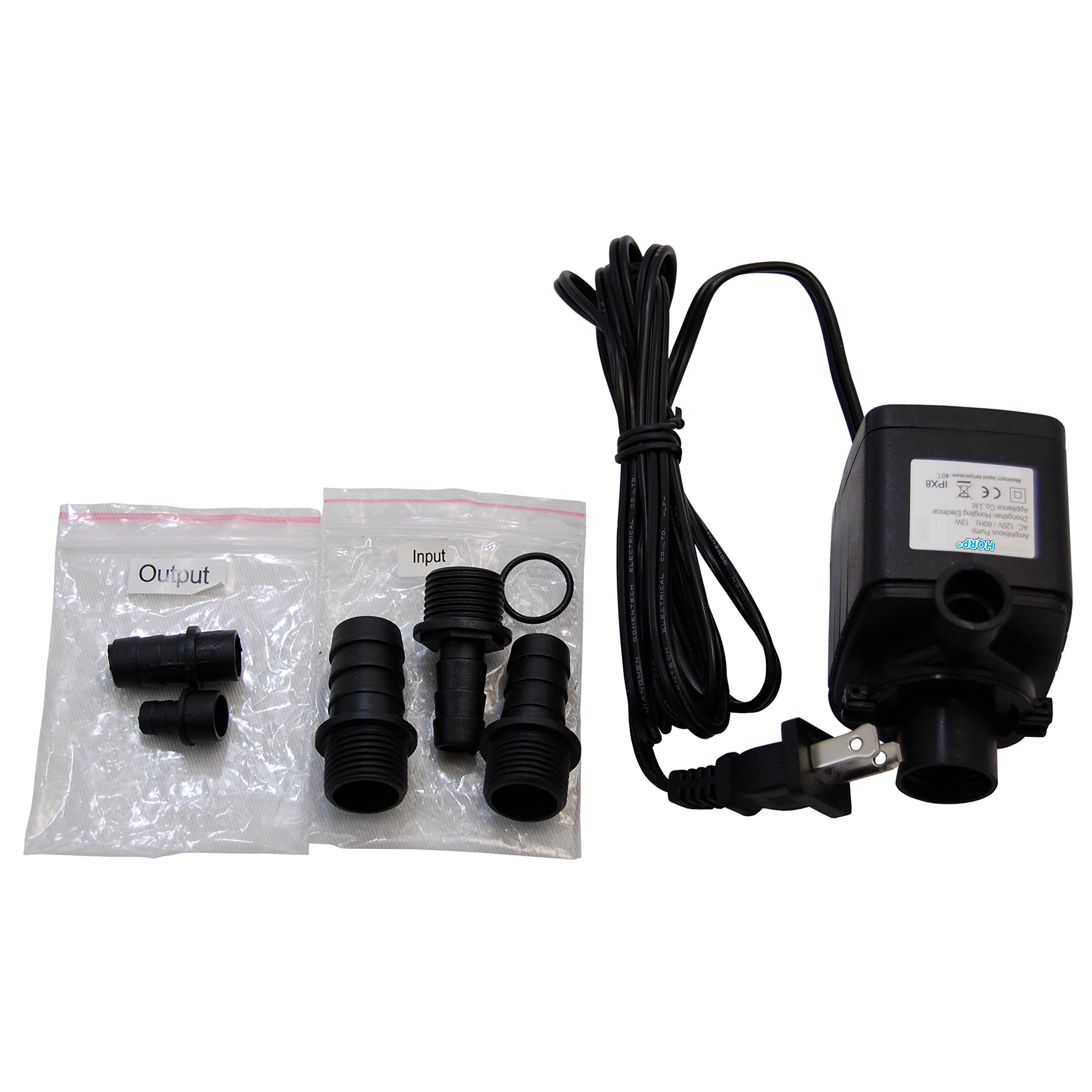 HQRP 800L/h 215GPH 13W Submersible Water Pump for Indoor Garden Hydroponic Plant Growing Systems plus HQRP UV Meter