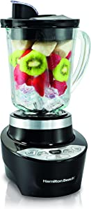Hamilton Beach Smoothie Smart Blender with 5 Speeds & 40 oz Glass Jar, Black (56206)