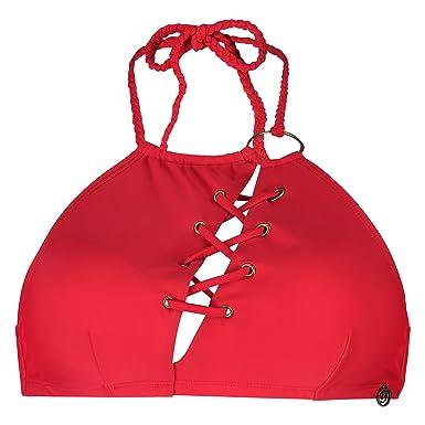 Hunkemöller Women Doutzen Jungle Vines Bikini Crop Top Red L133786