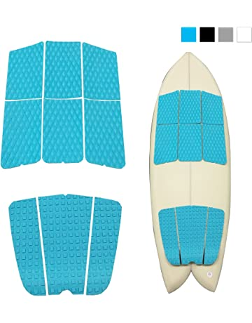 ABAHUB 9 Piece Surf Deck Traction Pad Premium EVA with Tail Kicker 3M Adhesive for Surfboard