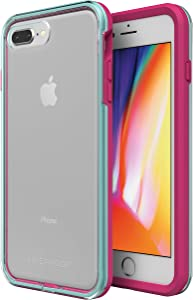 LifeProof SLAM Series Case for iPhone 8 Plus & 7 Plus (ONLY) - Retail Packaging - Aloha Sunset (Clear/Blue Tint/Process Magenta), Model Number: 77-57419