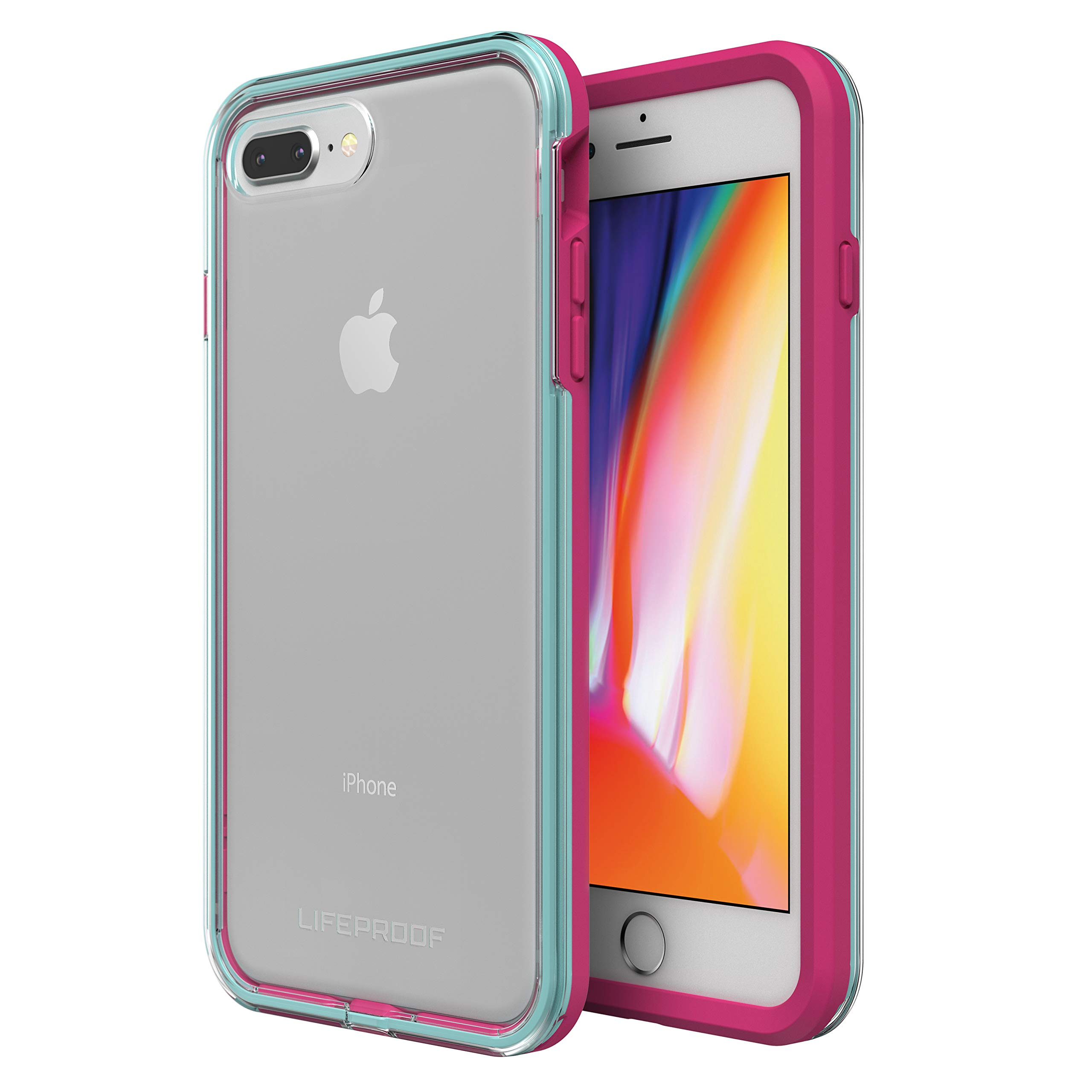 Lifeproof SLAM Series Case for iPhone 8 Plus & 7 Plus (ONLY) - Retail Packaging - Aloha Sunset (Clear/Blue Tint/Process Magenta) by LifeProof (Image #1)