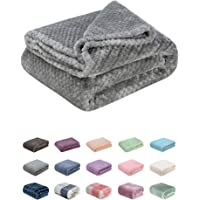 Fuzzy Blanket or Fluffy Blanket for Baby Girl or boy, Soft Warm Cozy Coral Fleece Toddler, Infant or Newborn Receiving Blanket for Crib, Stroller, Travel, Decorative, Polyester, M-Flint Gray, 40Wx60L
