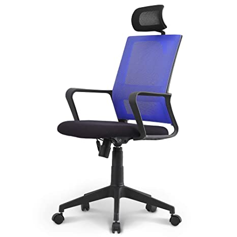 Amazon Com Neo Chair Office Chair Computer Desk Chair Gaming Ergonomic Headrest High Back Cushion Lumbar Support With Wheels Comfortable Black Blue Mesh Racing Seat Adjustable Swivel Rolling Home Executive Kitchen Dining