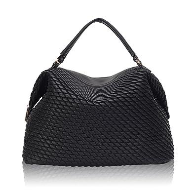 Hazlmay Joanna Textured Faux Leather Women's Large Satchel Handbag ...