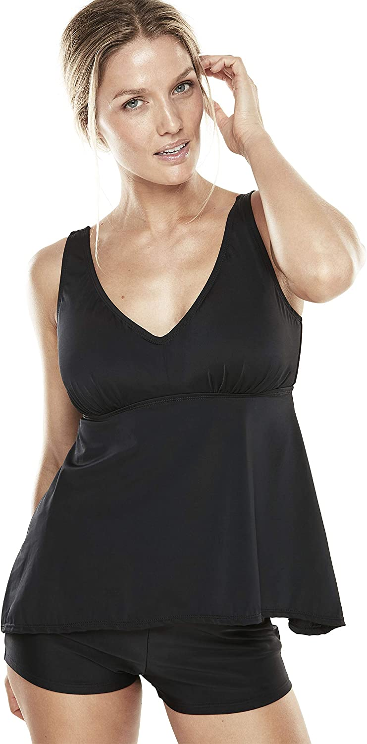 SWIMSUITSFORALL Swimsuits for All Womens Plus Size Flowy Tankini Top