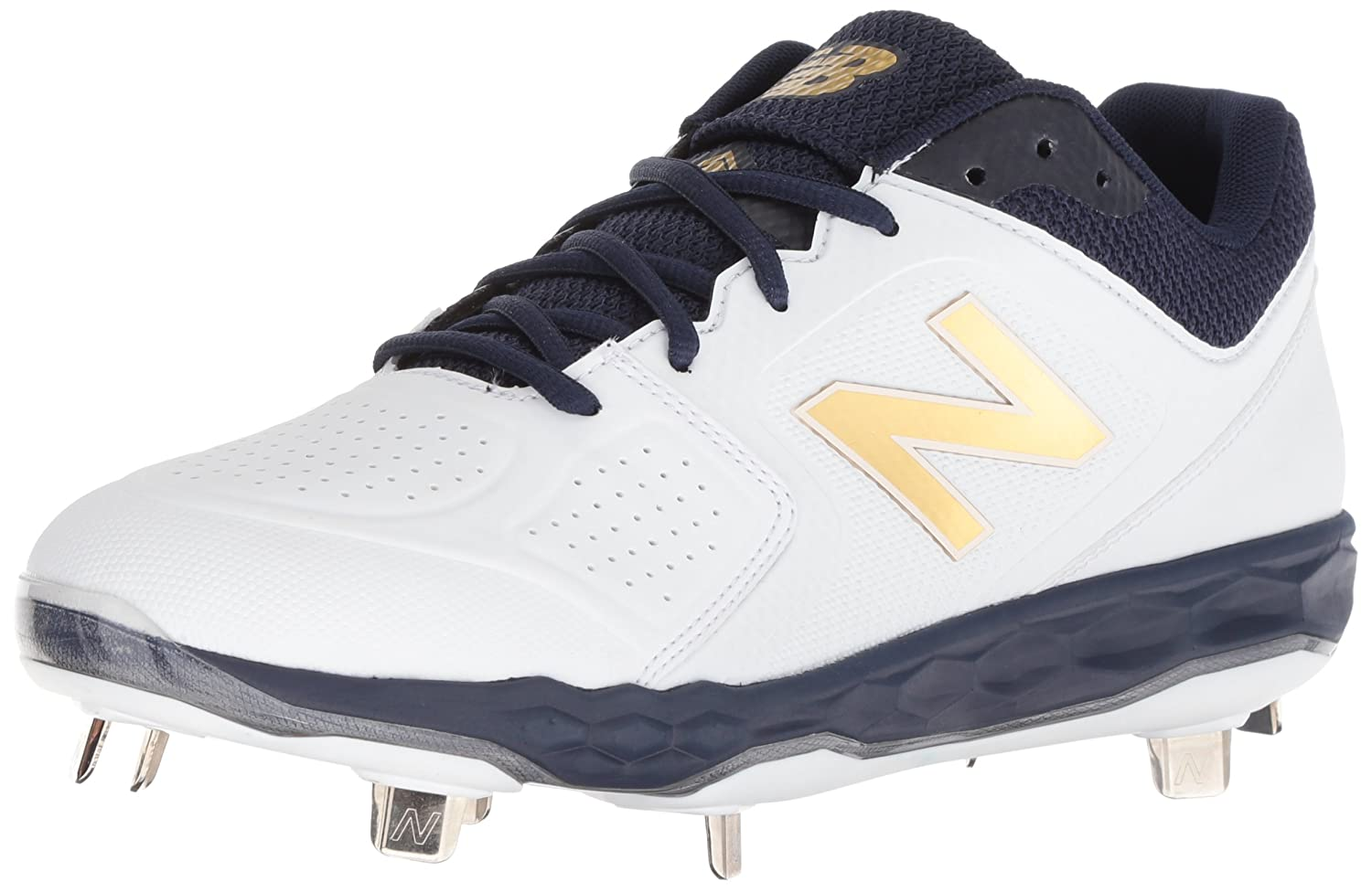 New Balance Women's Velo V1 Metal Softball Shoe B075R7FK8L 8 B(M) US|Navy/White