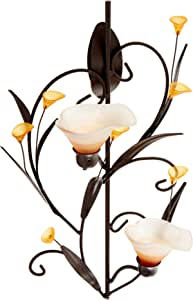 Koehler Amber Lilies Candle Wall Sconce, 10015809